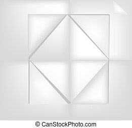 Paper rhombus - Squares and rhombus Gray abstract background...