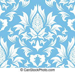 seamless damask pattern - Damask seamless vector background...