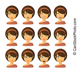 Female avatar expression set
