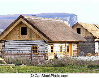 Houses of logs - House of the traditional timber...