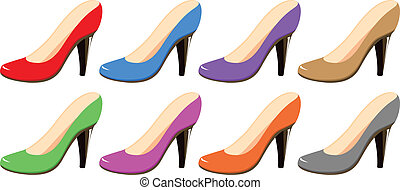 Highheels - Illustration of different colors highheels