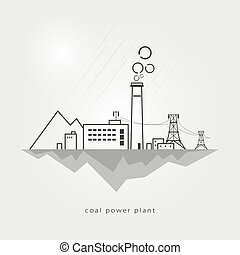 Coal power stations - complex industrial facilities with the...