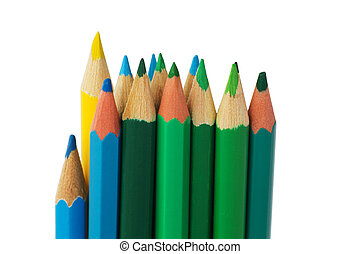 Color Pencils - Wooden Color Pencils Isolated on a White...