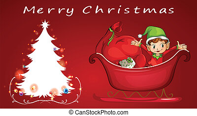 Christmas - Illustration of a christmas card