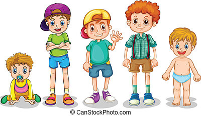 Young boys - Illustration of young boys