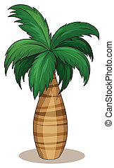 Palm tree - Illustration of a single palm tree