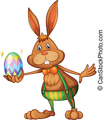 Easter rabbit - Illustration of an easter bunny