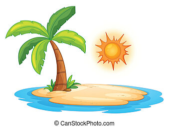 Desert island - Illustration of a desert island