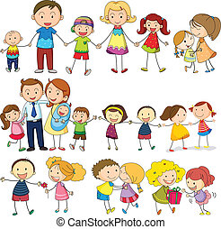 Happy and loving family - Illustration of a happy and loving...