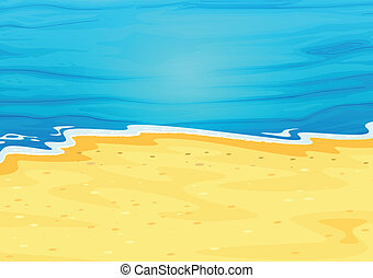 A beautiful view of the beach - Illustration of a beautiful...