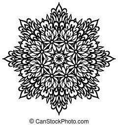 Abstract Flower Mandala Decorative element for design Vector...