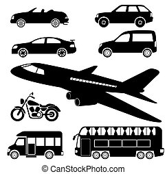 transportation icons - transportation vector icons in eps10...
