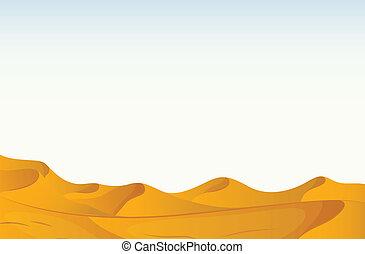 Desert - Illustration of a scene of a desert