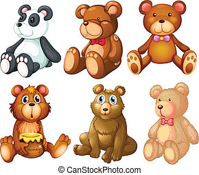 Teddy bear - Illustration of stuffed animal