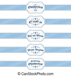 5 different Oktoberfest 2014 banners - vector of five...