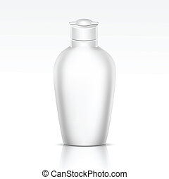 Vector Bottle for Shampoo Shower Gel Liquid Soap