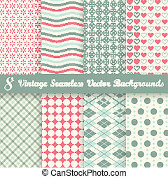 collection seamless vintage backgrounds - collection of...