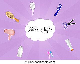 cabelo, estilo
