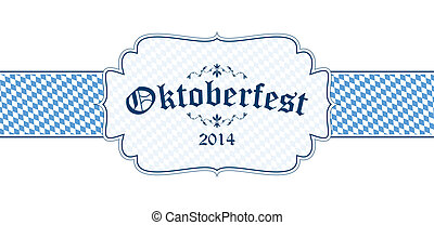 Oktoberfest banner with text Oktoberfest 2014 - vector of...