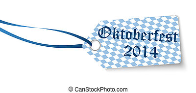 hangtag with text Oktoberfest 2014 - vector of hangtag with...