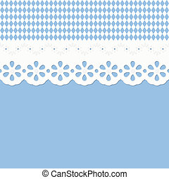 Oktoberfest background seamless with festoon - vector of...