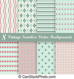 collection seamless vintage backgrounds