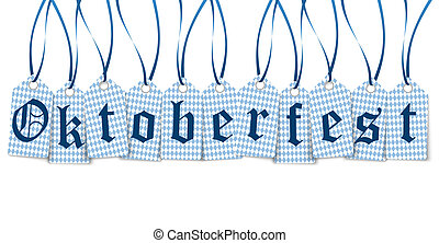 hangtags with text Oktoberfest - vector of hangtags with...