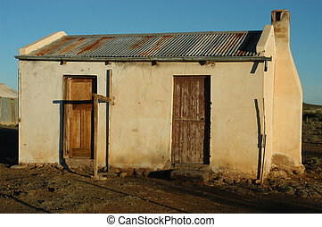 Decaying architecture at sunset on a farm in the Northern...