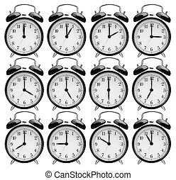 set of alarm clocks