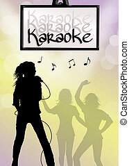 karaoke singer - illustration of karaoke singer