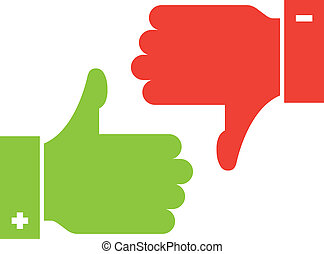 thumb up and thumb down icons - vector thumb up and thumb...