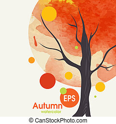 Creative Autumn Background.  Vector Illustration. Eps 10