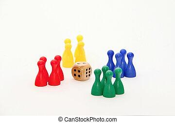 Ludo, tabla, juego, Estatuillas