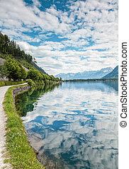Zell Am See lake in Austria in the summer