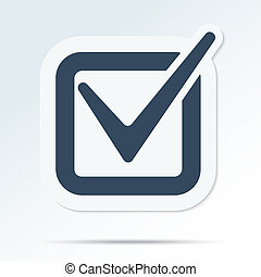 Check mark symbol Vector tick icon