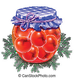 canned tomatoes - Canned tomatoes Tomatoes in a glass jar...