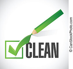 clean check mark illustration design over a white background