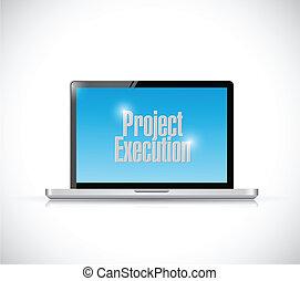 computer project execution illustration design