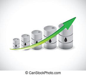 oil barrel graph illustration design