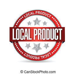 local product seal illustration design