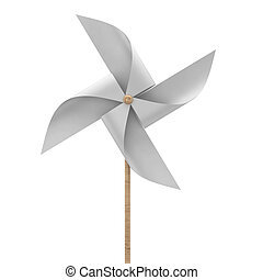 Pinwheel toy 3d illustration isolated on white background