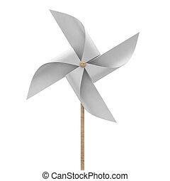Pinwheel toy. 3d illustration isolated on white background