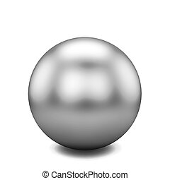 Single ball. 3d illustration isolated on white background