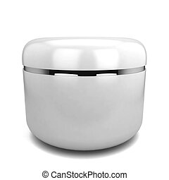 Cosmetic jar. 3d illustration isolated on white background