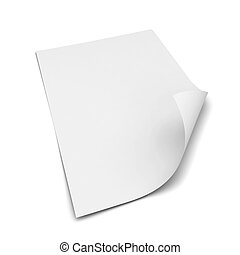 Sheet of a4 paper. 3d illustration isolated on white...