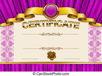 Elegant template of certificate, diploma - Elegant template...