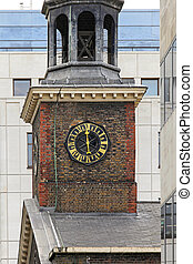 Church clock - Church tower clock in East London