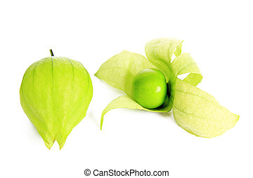 Tomatillo (Physalis philadelphica) - isolated in front of...