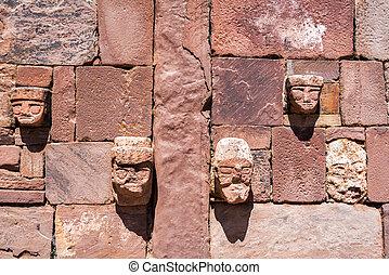 tiwanaku, caras