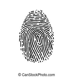 fingerprint - This is a handdrawn illustration of...